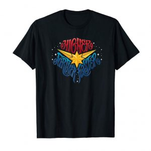 Buy Marvel Captain Marvel Higher Further Faster Star Premium Tee