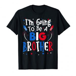 Get Big Brother Cute 4th Of July Pregnancy Announcement Gift T-Shirt