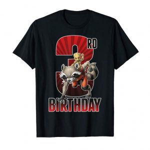 Shop Marvel Rocket And Baby Groot 3rd Birthday Graphic T-Shirt