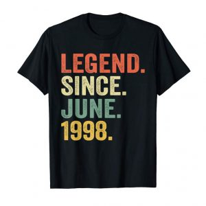 Buy 21st Birthday Gift Shirt Legend Since June 1998 21 Years Old