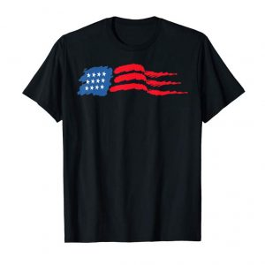 Order Now Waving American Flag Abstract Art For July 4th Independence T-Shirt