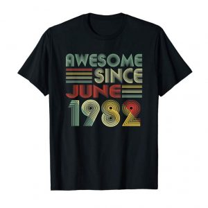 Buy 37 Years Old Shirt Awesome Since June 1982 T-shirt