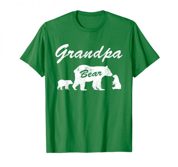 Order Now Mens Grandpa Bear T Shirt With Two Cubs - Father Day Gifts Teee