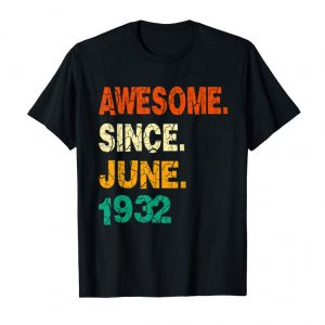 Buy 87th Birthday Gift 87 Years Old Born In June 1932 T-shirt