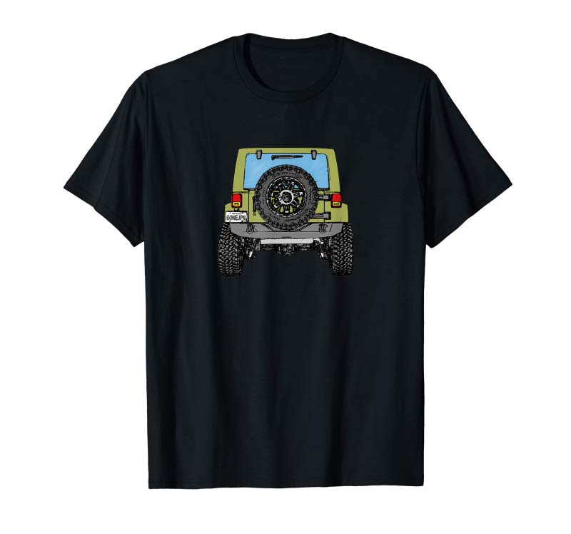 Order Gone Jeepin 4x4 Off Road Crawling Jeeps Trail Riding T-Shirt