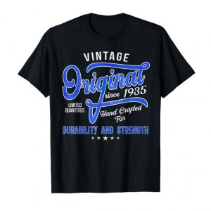 Buy Now Vintage Since 1935 Aged 84 Yrs Old Birthday 84th Bday Gift T-Shirt