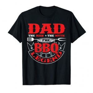 Shop The Man The Myth The BBQ The Legend Smoker Grillin Dad Gifts T-Shirt