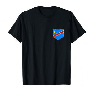 Get Congo Democratic Flag Tee With Printed Congolese Pocket