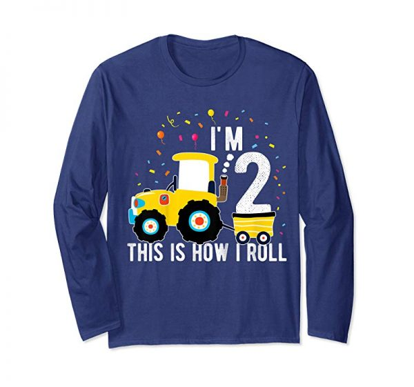 Cool Kids Tractor 2 Year Old Birthday Shirt 2nd Birthday Party Toddler T-Shirt
