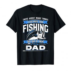 Trends Mens I Love Fishing But I Love Being Dad More Father Lover Gift  T-Shirt