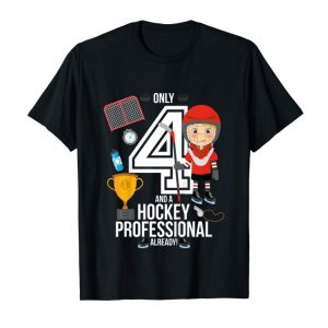 "Buy Kids 4th Birthday Boy Shirt ""Only 4 And A Hockey Pro Already"" T-Shirt"