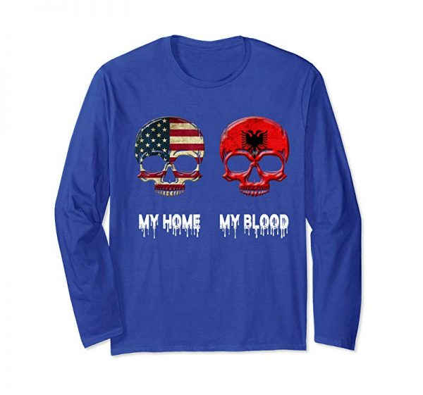Order Now My Home My Blood Albania Flag T-Shirt Albanian Gift Tee