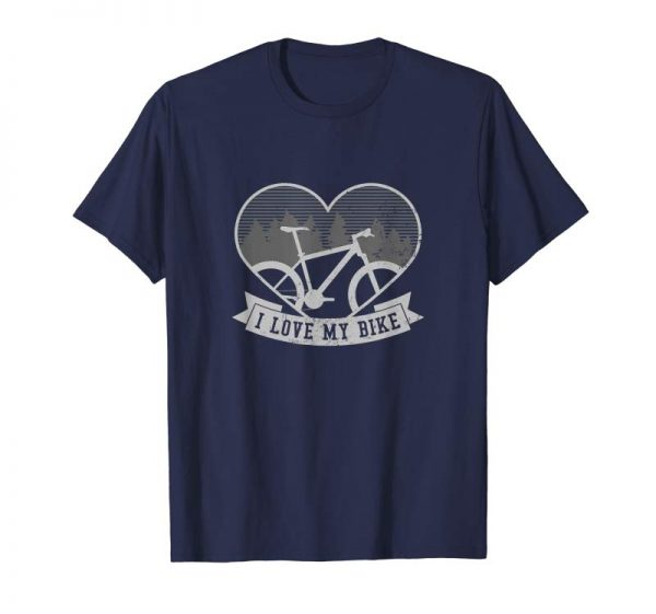 Order Now Mountain Bike Design | I Love My Vintage Heart Gift T-Shirt