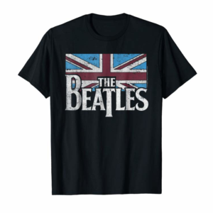 Order Now The Beatles British Flag Red,white, And Blue T-shirt