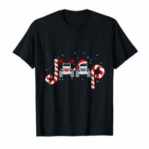 Order Now Jeeps Christmas Santa Claus And Reindeer Gift T-Shirt