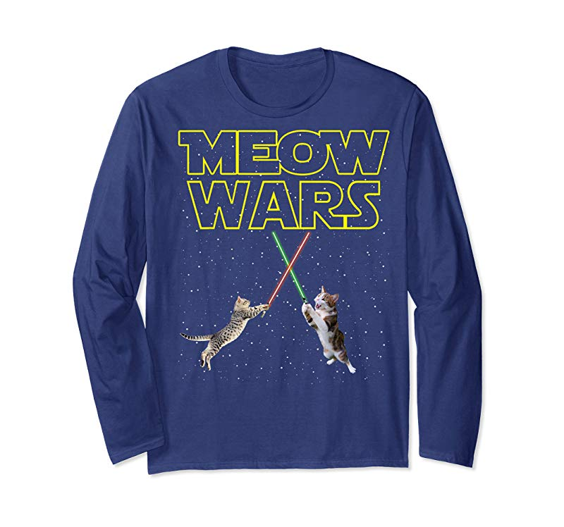 Shop Meow Wars Cat Shirt Funny Gifts For Cats Lovers T-Shirts T-Shirt