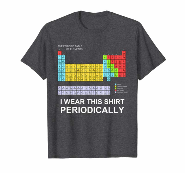 Order I Wear This Shirt Periodically T-shirt Funny Science Tshirt