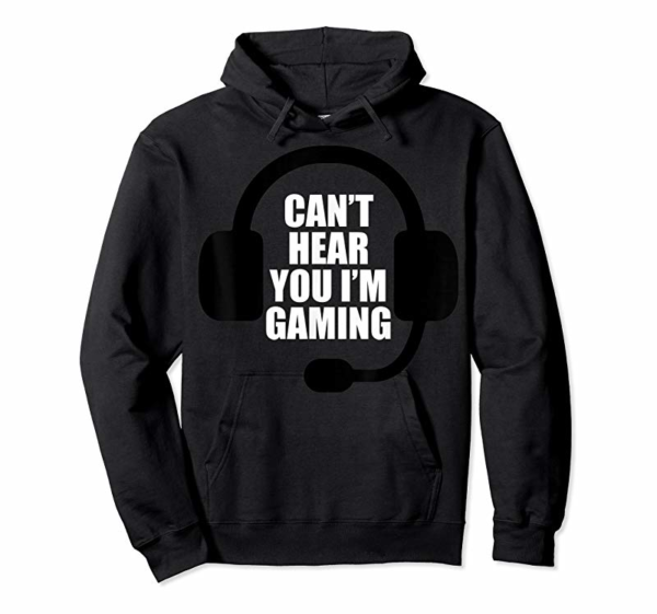 Adorable Can't Hear You I'm Gaming Video Gamer Headset Funny T-Shirt T-Shirt