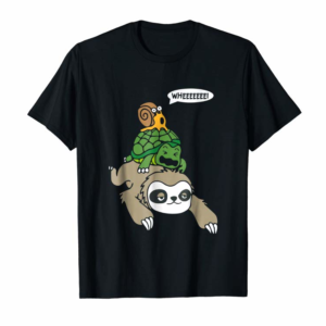 Buy Now Sloth Turtle Snail Funny T Shirt Cute Animal Lover Gift Tee
