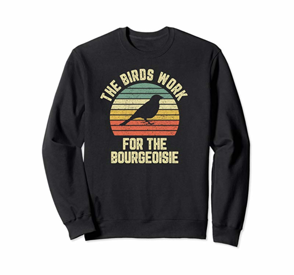Cool Funny The Birds Work For The Bourgeoisie Pullover Hoodie