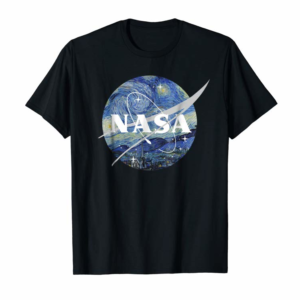 Trending NASA Starry Night Classic Chevron Logo Graphic T-Shirt
