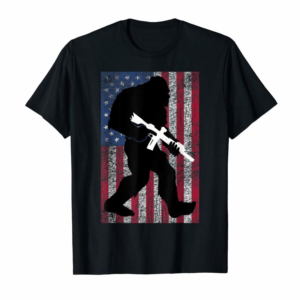Adorable Bigfoot 2nd Amendment Right To Bear Arms Gift For Gun Owner T-Shirt