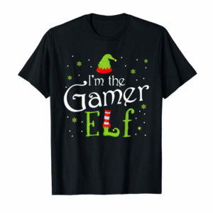 Buy Now I'm The Gamer Elf Funny Group Matching Family Xmas Gift T-Shirt