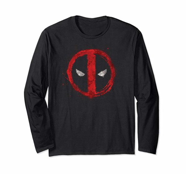 Adorable Marvel Deadpool Symbol Red Spray Paint Hooded Sweatshirt