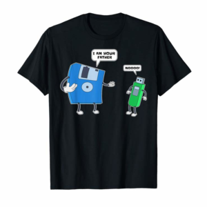 Adorable Computer Engineering T-Shirt I Father & Son Floppy Disk Tee T-Shirt