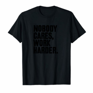 Adorable Nobody Cares Work Harder Motivational Fitness Workout  Pullover Hoodie