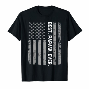 Shop Best Papaw Ever Vintage American Flag T Shirt T-Shirt