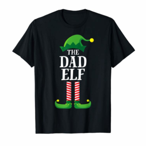 Buy Now Dad Elf Matching Family Group Christmas Party Pajama T-Shirt