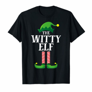 Adorable Witty Elf Matching Family Group Christmas Party Pajama T-Shirt