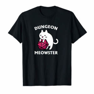 Adorable Dungeon Meowster Funny Gamer Cat D20 Gift Pullover Hoodie
