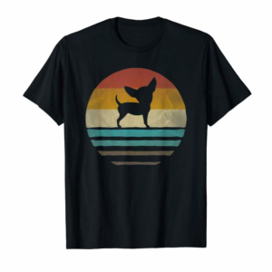 Adorable Chihuahua Dog Retro Vintage 60s 70s Silhouette Breed Gift T-Shirt