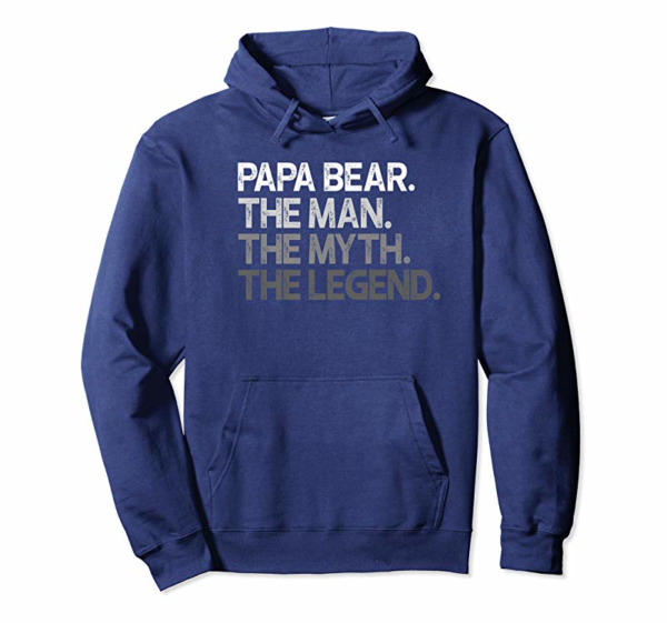 Buy Mens Papa Bear Shirt Gift For Dads & Fathers: The Man Myth Legend Premium T-Shirt
