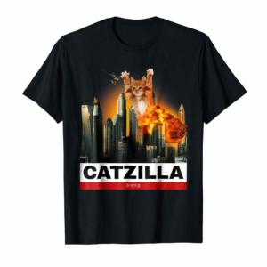 Buy CATZILLA - Funny Kitty Tshirt For Cat Lovers To Halloween