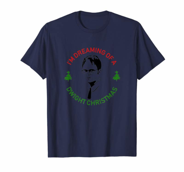 "Adorable ""I'm Dreaming Of A Dwight Christmas"" The Office Funny T-Shirt"