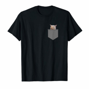 """Buy Now Funny Internet Meme """"Smudge The Cat"""" In Your Pocket T-Shirt"""