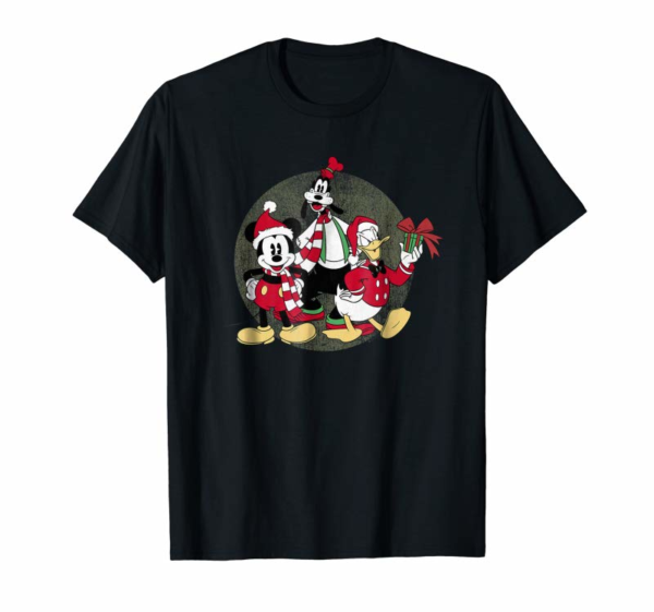 Adorable Disney Christmas Group T-shirt