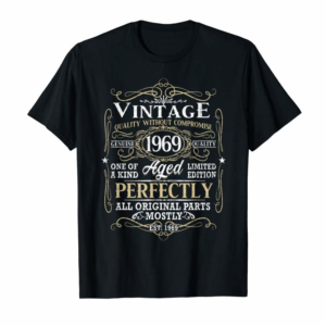 Adorable Vintage 1969 50th Birthday Gift 50 Years Old T-Shirt T-Shirt
