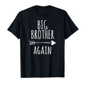 Buy Now Big Brother Again Shirt For Boys With Arrow And Heart