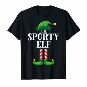 Buy Now Sporty Elf Matching Family Group Christmas Party Pajama T-Shirt