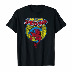 Buy Now Marvel Amazing Spider-Man Vintage Comic Graphic T-Shirt T-Shirt