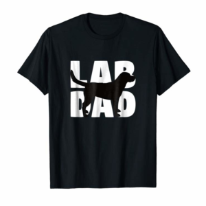 Adorable Lab Dad T-Shirt Labrador Retriever Dad Gift Labrador Dad Tee