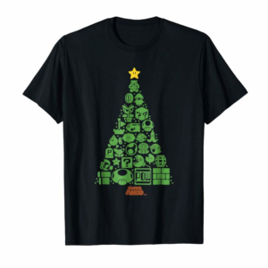 Trending Super Mario Item Characters Christmas Tree Graphic T-Shirt