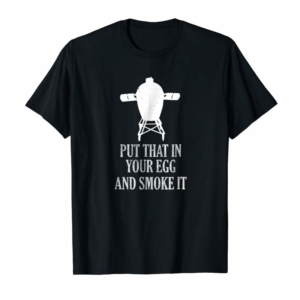 Order Mens Men's Funny BBQ Grilling Smoking Pitmaster Egg Smoker TShirt