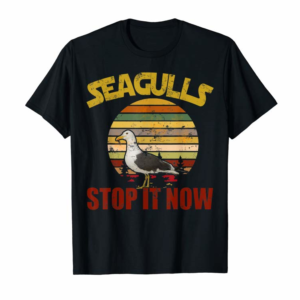 Adorable Vintage Retro Seagulls Bird Lover Stop It Now Funny Seagulls T-Shirt