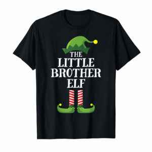 Buy Little Brother Elf Matching Family Group Christmas Boys T-Shirt