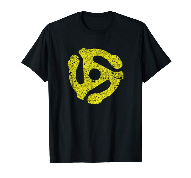 Buy DJ 45 RPM Adapter Vintage Style Turntable Record T-Shirt T-Shirt
